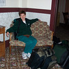 Patti enjoys the antique furniture before breaking down to unpack the luggage.