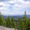 Yellowstone Lake from the Elephant Back viewpoint with the Absarokas in the background.