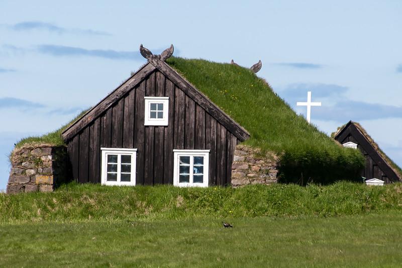 Church at the Árbær Open Air Museum - Reykjavik, Iceland