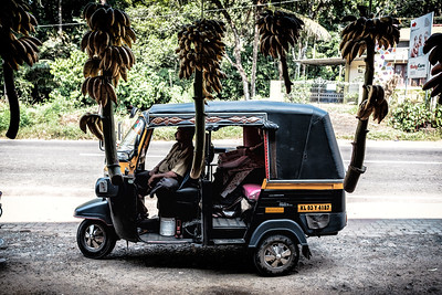 Auto rickshaw and bananas