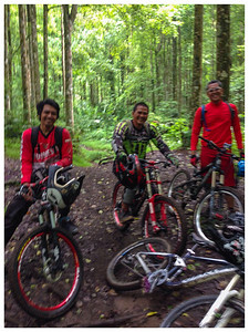 DH / FR at pine forest at Ubud.