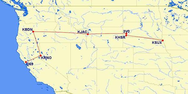 Iowa to Petaluma