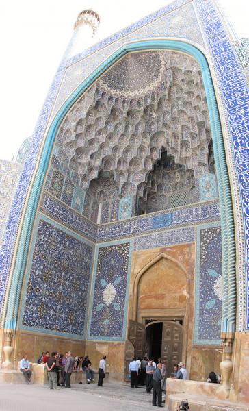 entrance, Imam Mosque (Nash-E Jahan (Imam square) Esfahan)