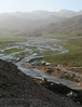 meandering river in the spring (Zagros mountains)