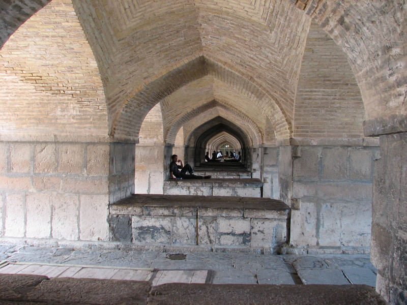 insite the Khaju bridge (Esfahan)
