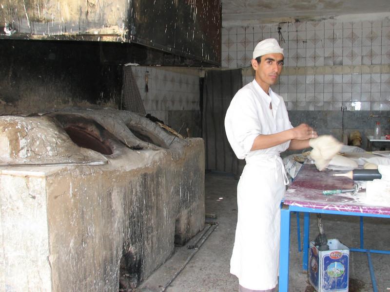 baker in the bakery (Bazoft valley)
