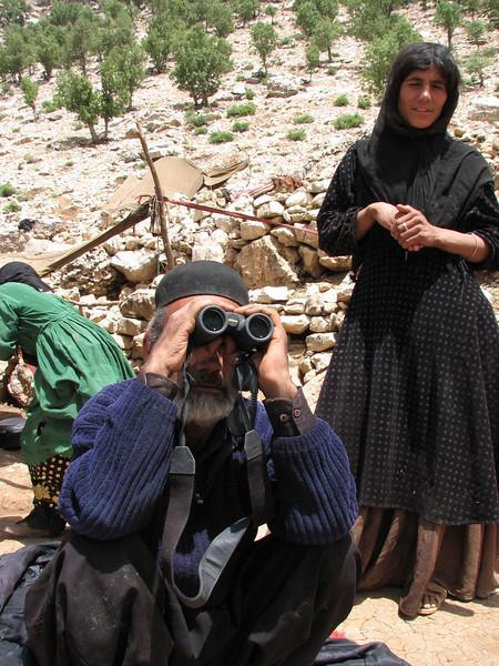 scan the neighbourhood with the binoculars (Bazoft valley)