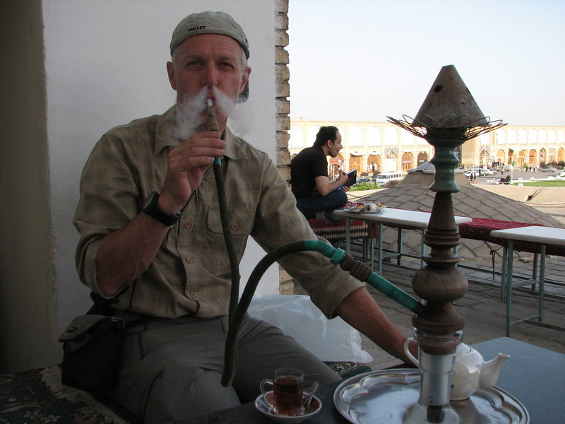 drinking tea and smoking the water pipe (Nash-E Jahan (Imam square) Esfahan)