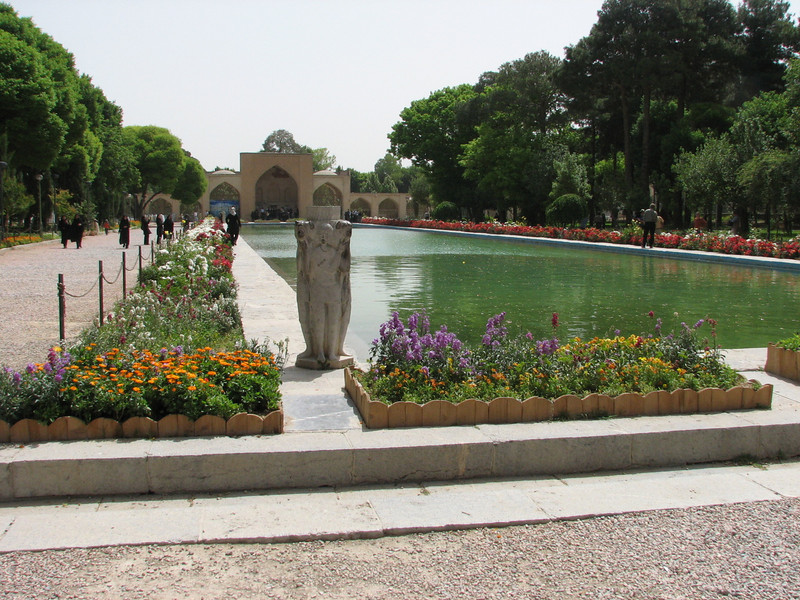 palace garden with reflecting pool (Chehel Sotun Palace)