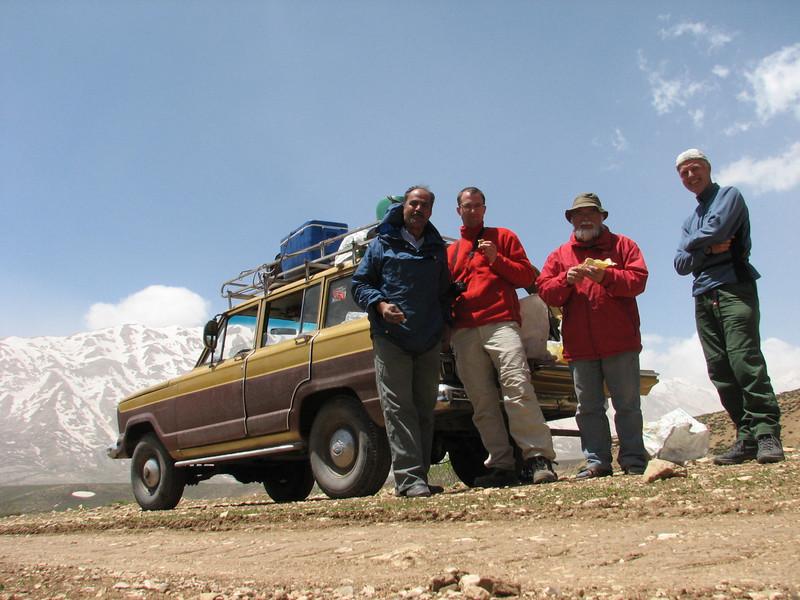 Mohamad, Kees Jan, Harrie and Marijn (near Chelgerd, Zagros mountains)