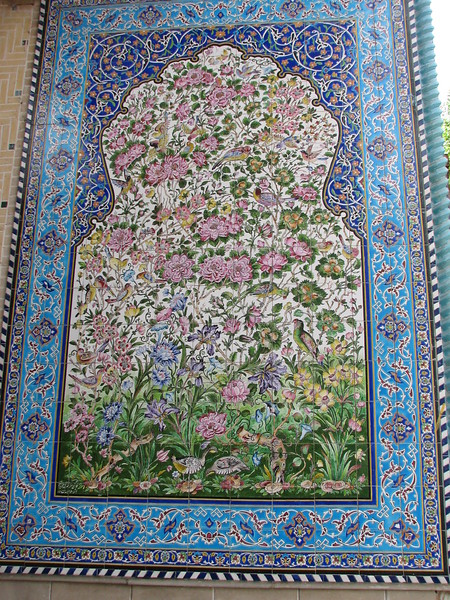 Tile tableau with flower motives (Esfahan)
