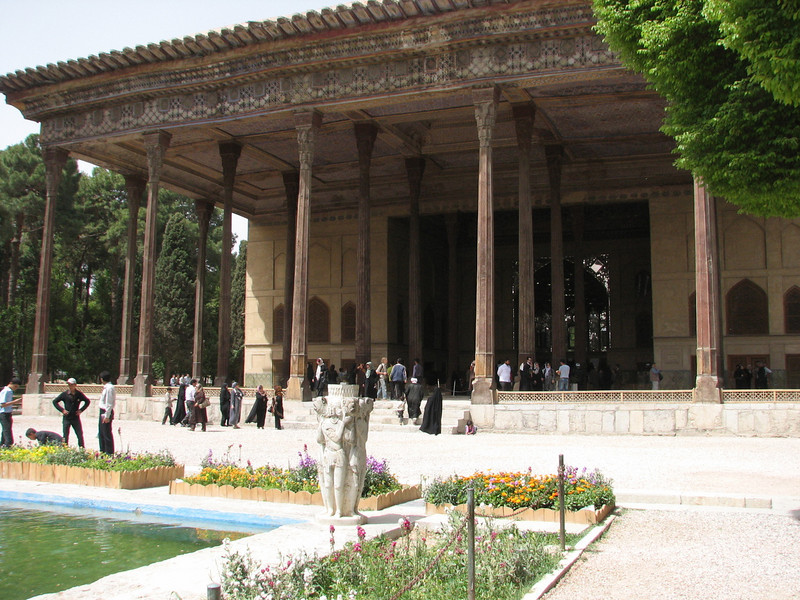 the great hall, palace of Shah Abbas II (Chehel Sotun Palace, Esfahan)