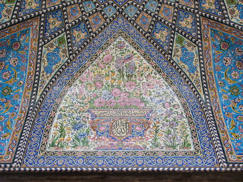 Tile tableau with flower motives (Esfahan)