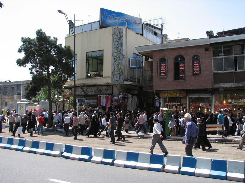 street scene in center of Tehran