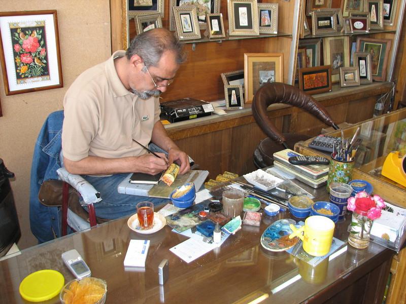 miniaturist at work (handycraftsmen Esfahan)