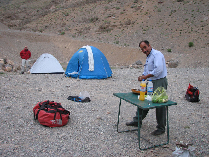 Mohamad cooking activities (campground)
