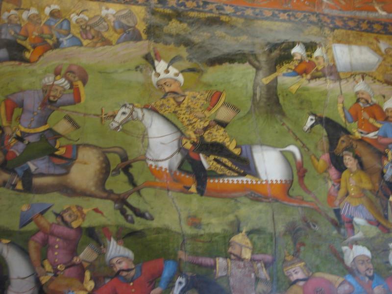 detail of the fresco (Chehel Sotun Palace, Esfahan)
