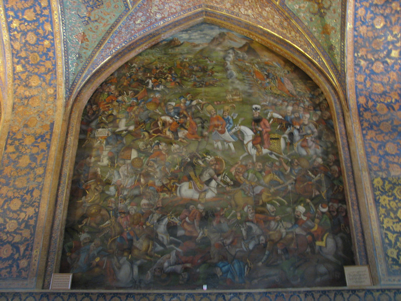 fresco (Chehel Sotun Palace, Esfahan)
