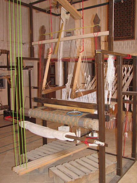 silk carpet loom (Ameriha historical houses)