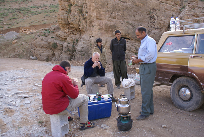 eating bread given by the nomads