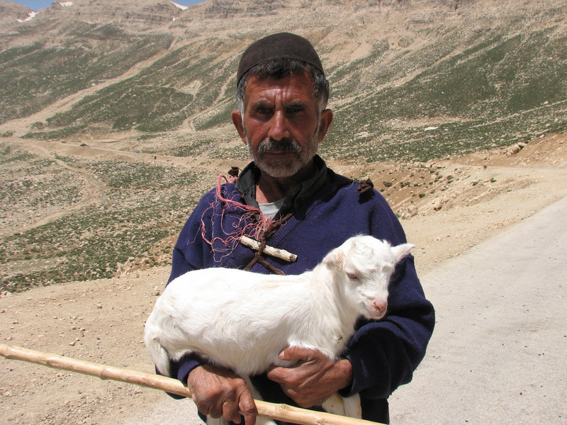 sheperd with a young goat (Bazoft valley)