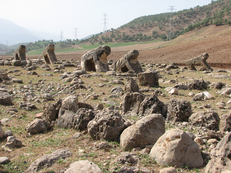 old cemetery with lion stones (Bazoft valley)