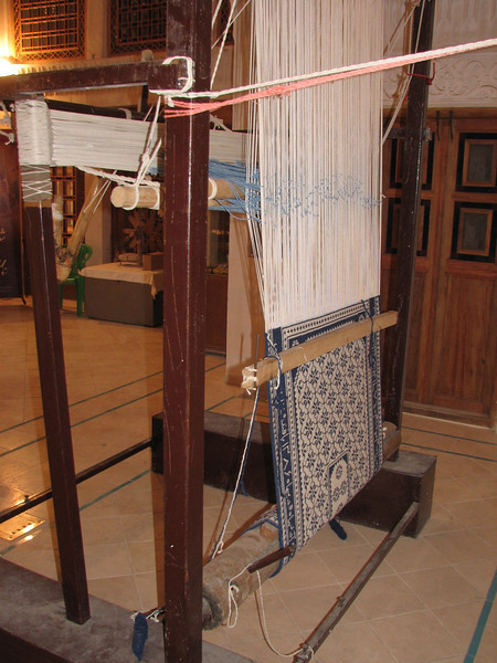loom to use for fabrication of silk carpets (Ameriha historical houses)