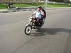 special transport, 3-4 persons on one motor-bike is normal (Tehran, Elburz, N.Iran)