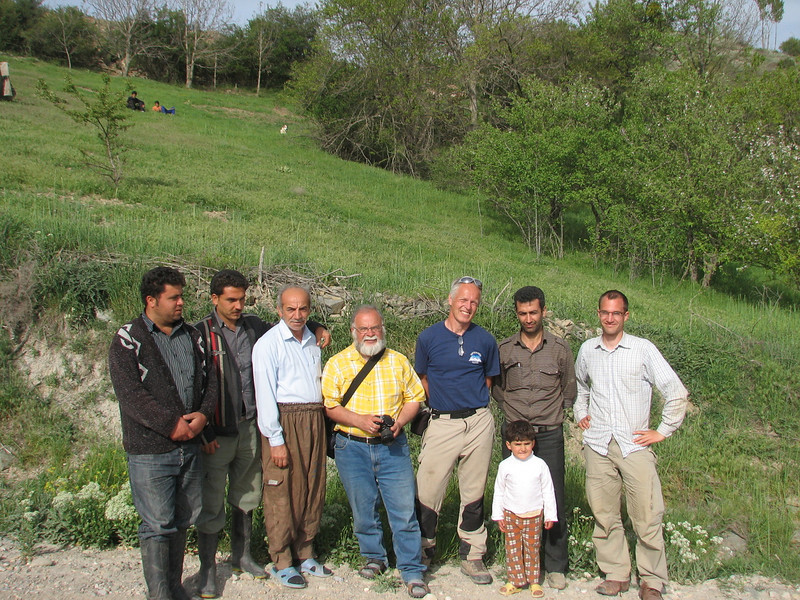with a Iranian family on the photo (S of the protected area Jahan Nama, Elburz, N.Iran)