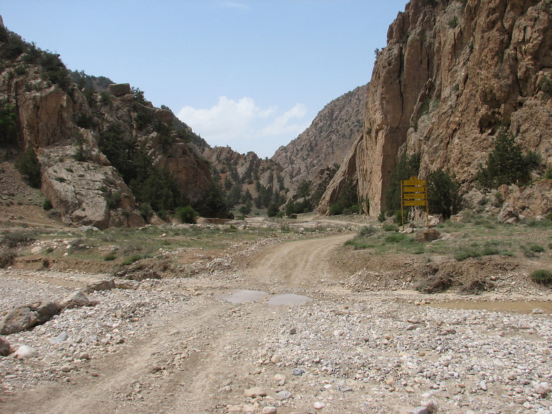 sign: Protected Area (Southside of the protected area Jahan Nama, Elburz, N.Iran)