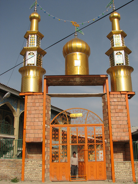 the prite mulah in the entrance of the new selfbuild mosque (S.side of the protected area Jahan Nama, Elburz, N.Iran)