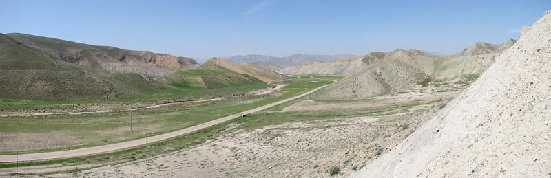 panorama of the Koppe Dag mountains NE Iran