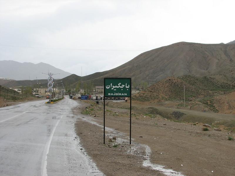 border-cross-city Bajgiran Iran/Turkmenistan ( Bajgiran, Koppe Dag mountains NE Iran)
