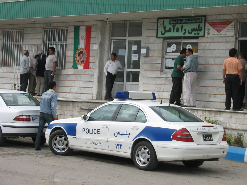 Mohammad visit the police station to become the next permit (near Gazanak, Elburz, N.Iran)