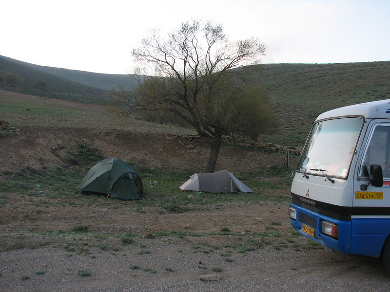 campground  May 5th - 6th (near the Olang pass, East Elburz, NE Iran)