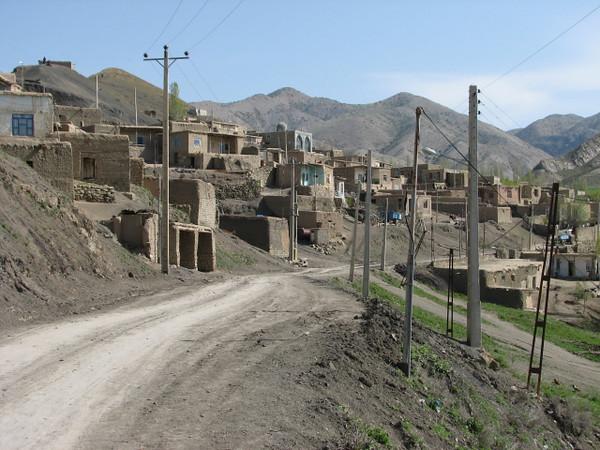 Northeast Iranian village (Koppe Dag mountains NE Iran)