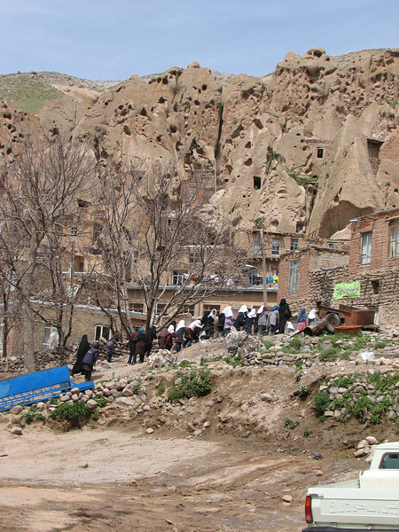 rockhouses in Kandovan a pitoresque mountain village (Iran, Azarbayjan-e-Gharqi, Sahand mountains)
