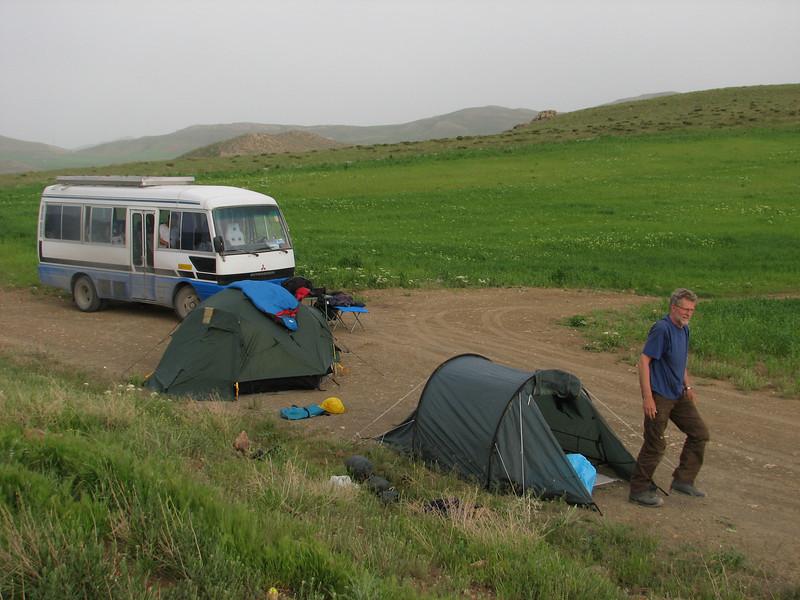 campground (Iran, Azarbayjan-e-Gharbi, Galijeh, between Mahabad - Bukan)