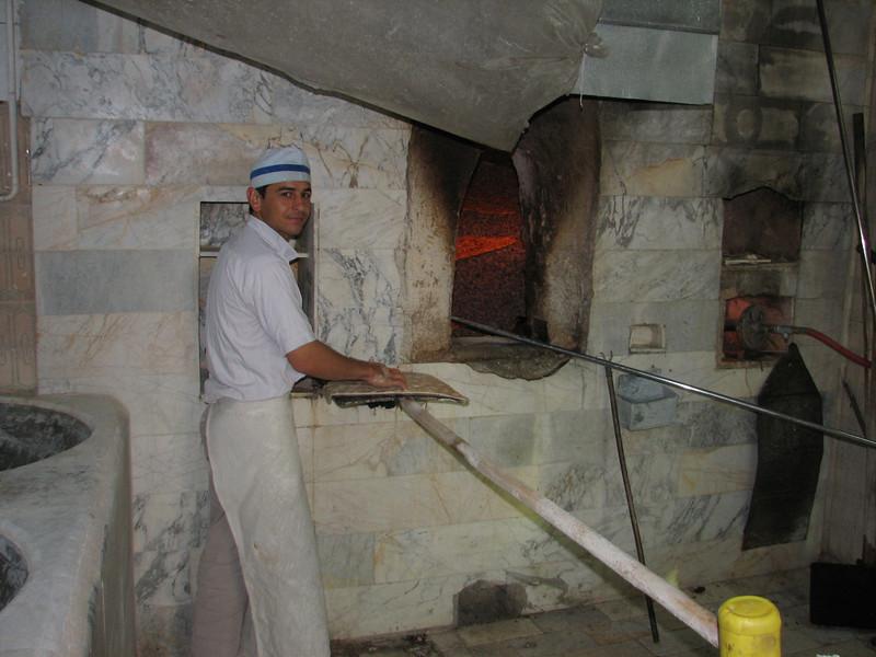 baking fresh bread, Tehran