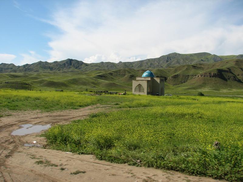 cemetery near the border Iran-Azarbayjan