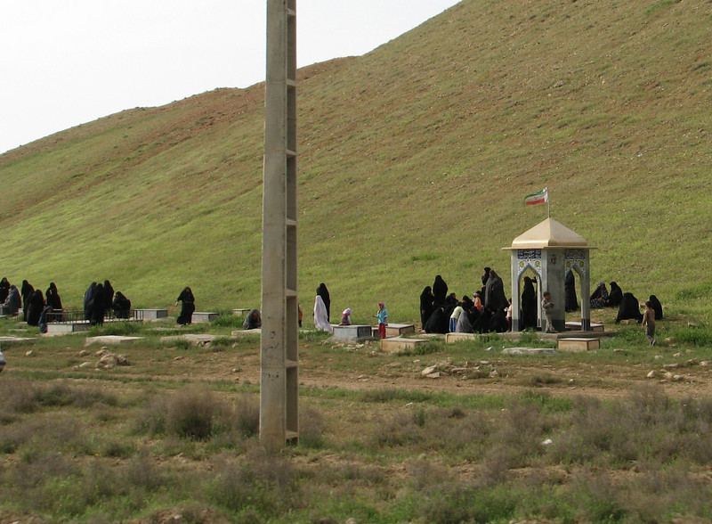 funeral on a cemetry (Iran, Zanjan, 3km NE of Sontu (35)