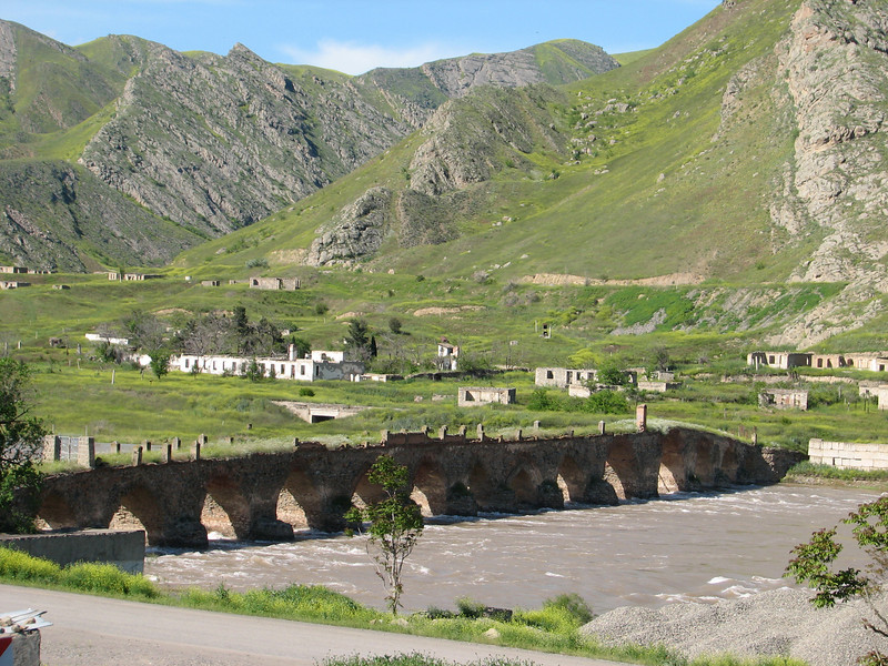 acient bridge near the border Iran-Azarbayjan