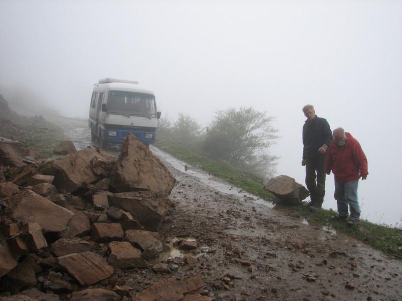 landslides after heavy rainfall (Iran, Gilan, Elburz mountains, pass, SE of Masuleh 2200m )(6)