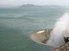 Overflow of Sefid Rud Reservoir (Iran, Qazvin, Sendan mountains)
