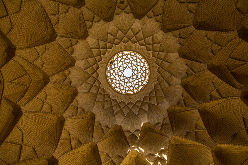 Ceiling of a vault in the Bazaar of Yazd near Amir Chakhmaq Square