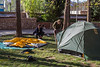 Camp in a city park, 5-6 May