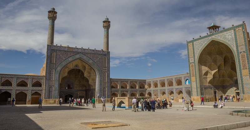 The Jameh Mosque is one of the oldest mosques of Iran
