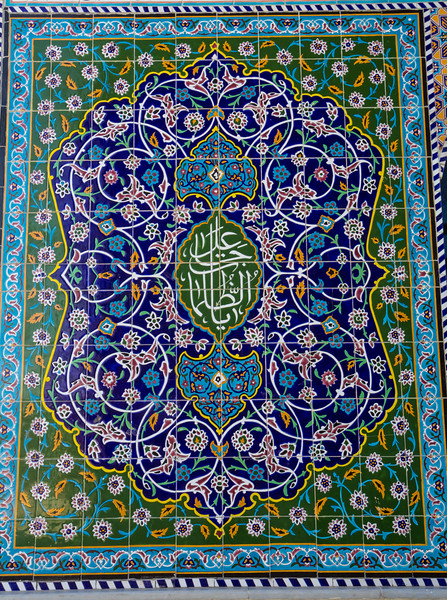 The tiles of Abarkuh Jame Mosque