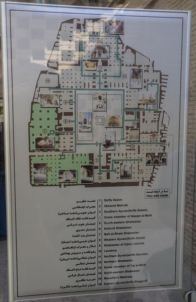Map of the Jameh Mosque
