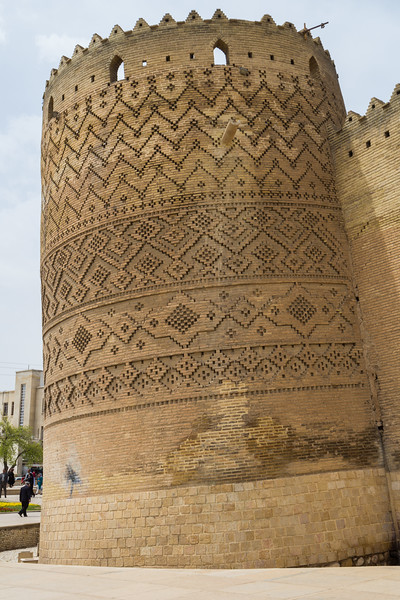 The leaning tower of the Karim Khan Castle